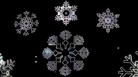 Christmas symbols Led lights Footage