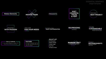 Soft Colorful Titles and Text Motion Graphics Template
