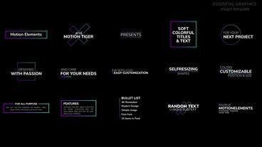 Soft Colorful Titles and Text モーショングラフィックステンプレート