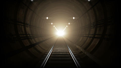 Animated subway tunnel, loop-able. 4K Animation