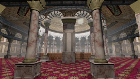Animation of Dome of the Rock interior in Jerusalem Animation