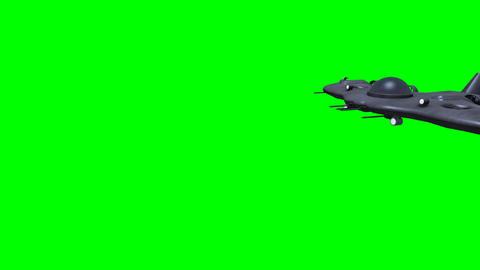 Futuristic submarine before green screen Animation