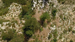 Overhead of Terrain at the Gorges du Tarn Canyon Live Action