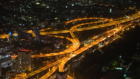 traffic of cars on the highway in a big city, traffic of a megacity, urban style Live Action