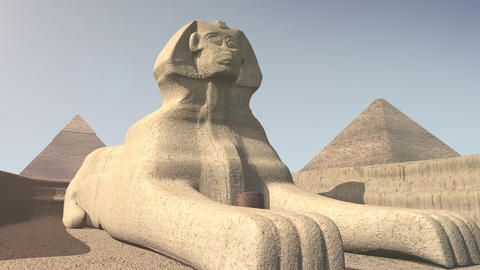 Animation of the sphinx in Egypt Animation