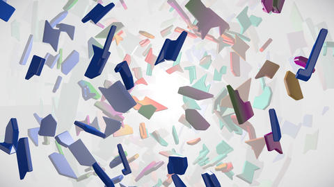 Abstract background with shattered pieces Animation
