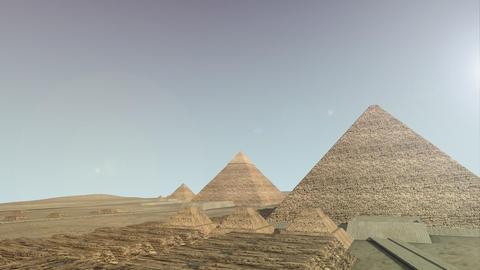 Zoom into a 3D animation of the Giza platform Egypt Animation