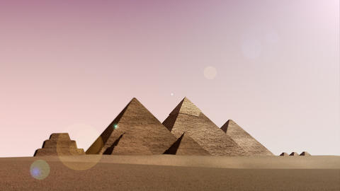 Animation of pyramids from dusk till dawn Animation