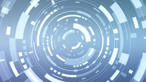 Animation of a futuristic blue hud Animation