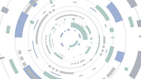 Animation of a futuristic white hud Animation