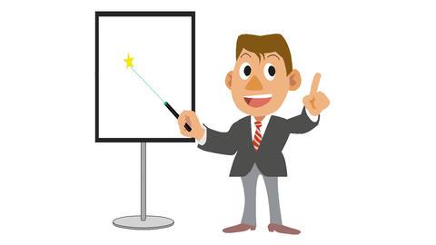 Businessman-Laser pointer Stock Video Footage