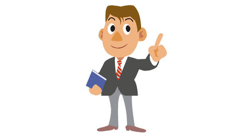 Businessman-To shake finger Animation