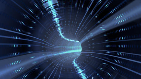 Animated wormhole with sci-fi waveform loop Animation
