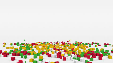 Flag of Myanmar (Burma) created from 3d cubes in slow motion Animation