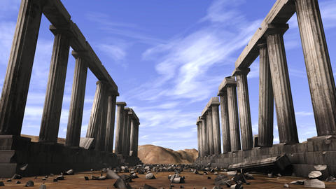 Abandoned Greek pillars Animation