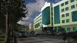 Kamchatka branch of Sberbank of Russia in Petropavlovsk Kamchatsky City Footage