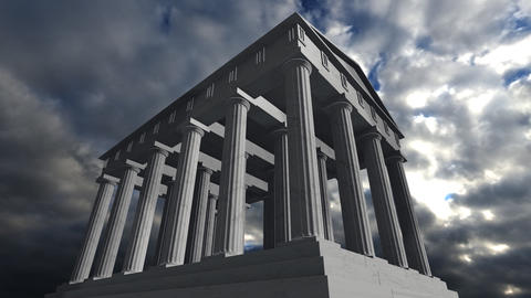 Animation of an ancient greek temple Animation