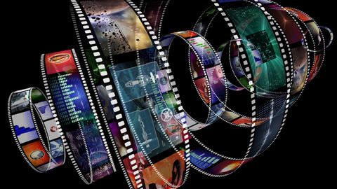 Loop-able animation of rotating film reels Animation