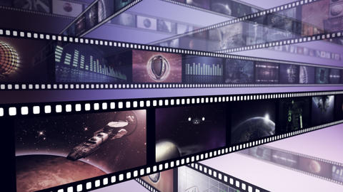 Loop-able creative animation of film reels Animation