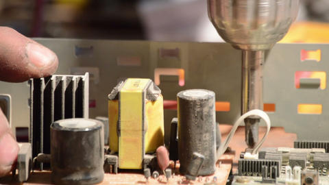 dusty inside of old radio, Stock Animation