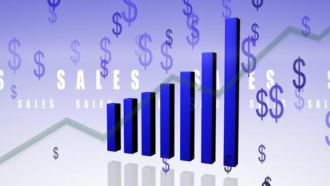 Bar chart dollar Animation