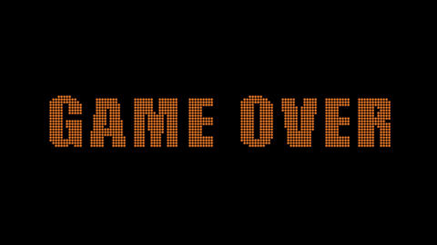 Game Over title animation matte included Stock Video Footage