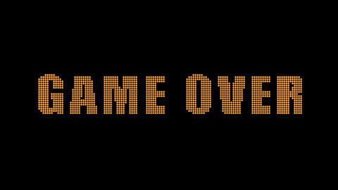 Game Over title animation matte included Animation