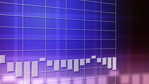 Bar chart downtrend Animation