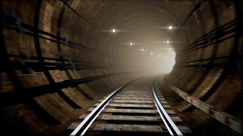 Animated subway tunnel, loop-able Animation