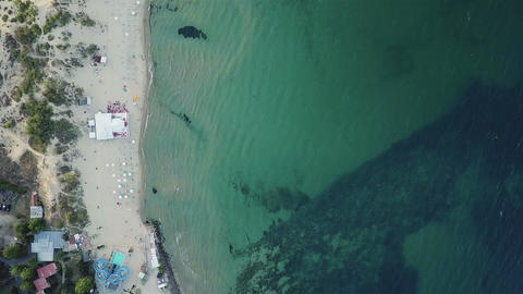 Aerial view of sea beach GIF
