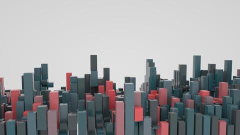 4K Abstract Bar Graph Blocks 영상물