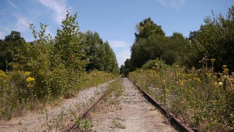 Abandoned old railway Footage