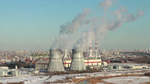 thermal power station time lapse Footage