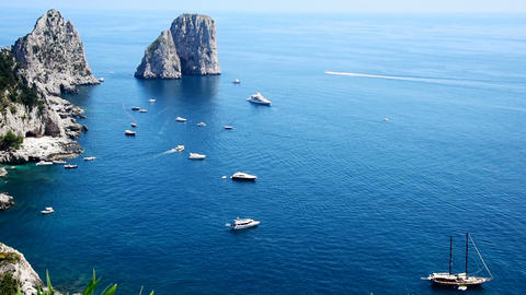 world famous Capri sea stacks Footage