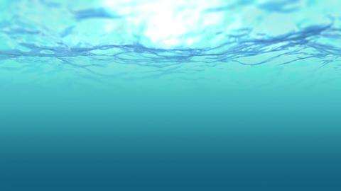 Ocean emerald wave sight under water Footage