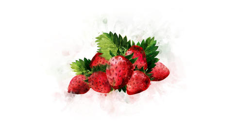 Strawberry on a transparent background Animation