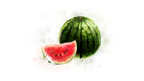 Watermelon Animation on the alpha channel Animation