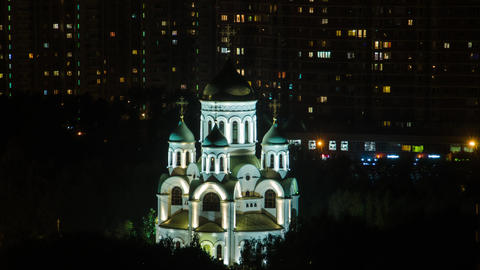 night curch in Moscow GIF