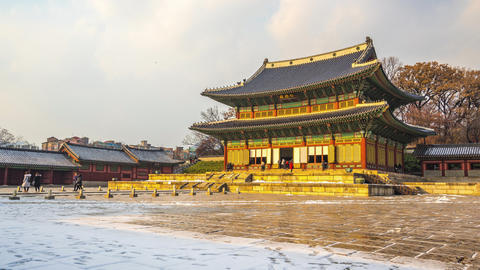 Changdeokgung Palace in Seoul city, South Korea Time Lapse Live Action