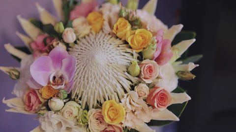 Bouquet on wedding day Footage