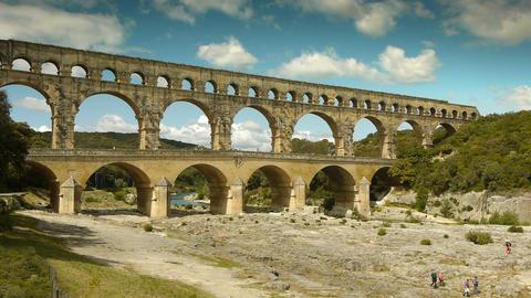 Aqueduct of Pont du Gard Live Action