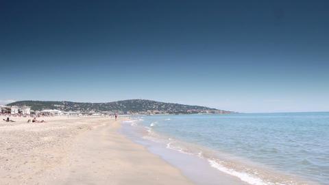 Beach at Cote D'Azur, France Live Action