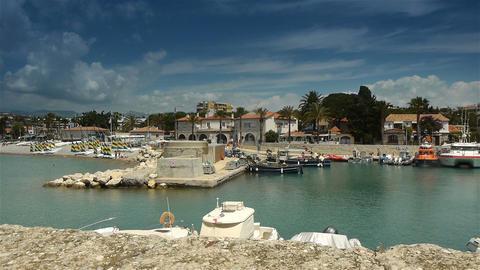 Little harbour at Cote D'Azur France Live Action