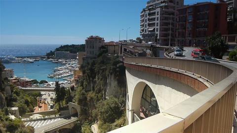 Cityscape of Monaco, Cote D'Azur France Live Action