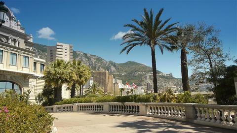 Casino at seaside at Monaco, Cote D'Azur France Live Action