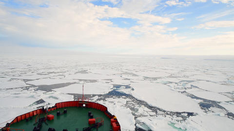 Travel In the ice , Arctic Footage
