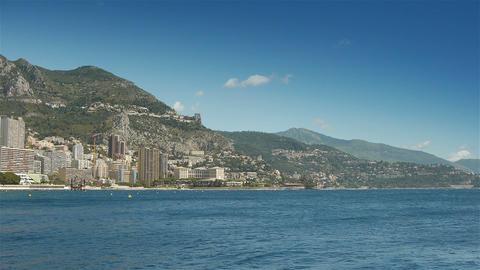 Mediterranean sea at Monaco, Cote D'Azur France Live Action