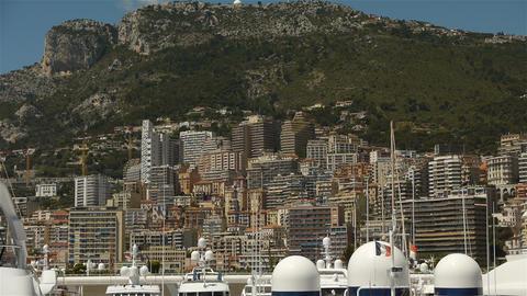 Skyline at Monaco, Cote D'Azur France Live Action