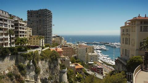 MONACO, FRANCE - JUNE 17, 2016 Skyline of Monaco Live Action
