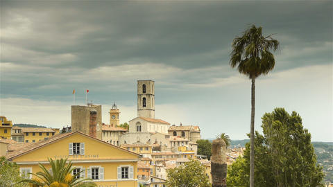 Panorama of Grasse, Cote D'Azur France Live Action